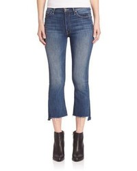 Mother Insider Cropped Raw Edge Jeans