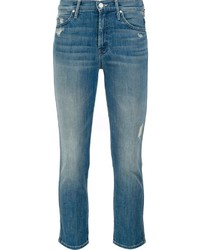Mother Mid Rise Cropped Jeans
