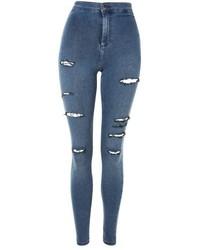 Topshop Moto Sulphur Super Rip Joni Jeans