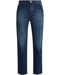 Muveil Bow Pockets Straight Leg Cropped Jeans