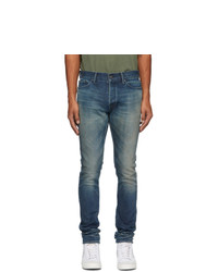 John Elliott Navy The Cast 2 Jeans