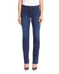 NYDJ Faded Straight Leg Jeans