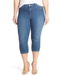 NYDJ Plus Size Ariel Stretch Denim Crop Jeans