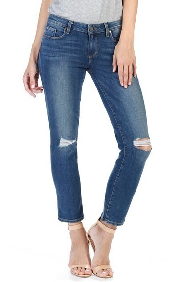 Paige Miki Crop Ankle Straight Leg Jeans