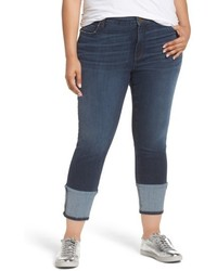 KUT from the Kloth Plus Size Reese Straight Leg Ankle Jeans