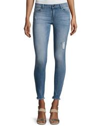 DL1961 Premium Denim Emma Power Flash Raw Hen Legging Jeans Indigo