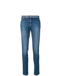 Kenzo Printed Waistband Slim Fit Jeans