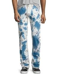 PRPS Demon Bleached Slim Denim Jeans Dark Indigo