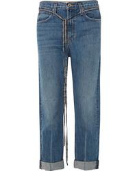 Proenza Schouler Pswl Canvas Trimmed Jeans