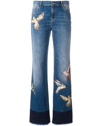 RED Valentino Birds Patch Straight Jeans