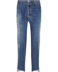 Vetements Reworked High Rise Slim Leg Jeans Blue