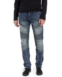 True Religion Brand Jeans Rocco Skinny Fit Moto Jeans