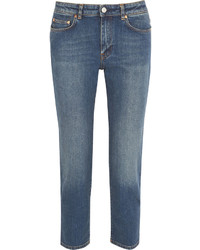 Acne Studios Row Cropped Mid Rise Straight Leg Jeans