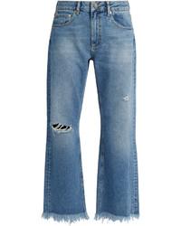 Raey Ry Max Asymmetric Hem Wide Leg Jeans