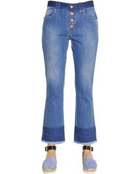 See by Chloe Stone Washed Cotton Denim Jeans