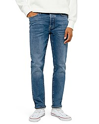 Topman Slim Fit Mid Wash Jeans