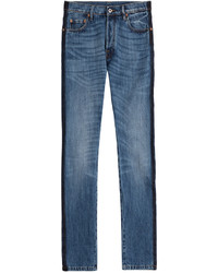 Valentino Slim Jeans With Tuxedo Striping