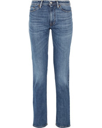 Acne Studios South Mid Rise Straight Leg Jeans Mid Denim