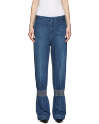 Stella McCartney Blue Ruched Jeans