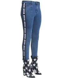 MSGM Stirrup Denim Jeans W Side Logo Bands