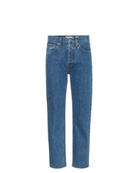 RE/DONE Stove Pipe 27 High Waisted Straight Leg Cropped Jeans