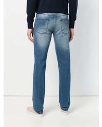 Kiton Straight Leg Faded Jeans