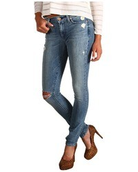 7 For All Mankind The Skinny W Squiggle In Authentic Oceanside