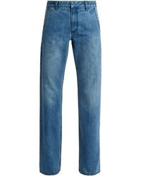 Tibi Low Rise Straight Leg Jeans