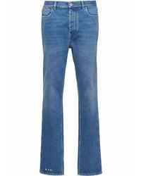 Prada Triangle Plaque Slim Cut Jeans