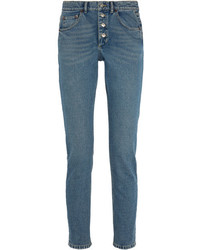 Balenciaga Tube High Rise Straight Leg Jeans Indigo
