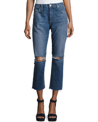 Tularosa Hailey Straight Fit Cropped Jeans Blue