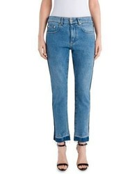 MSGM Two Tone Cotton Denim Jeans