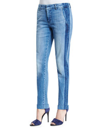 Vince Denim Side Strapping Pants