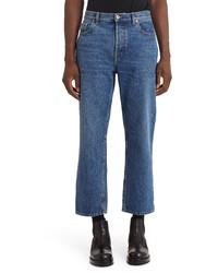 Valentino Vlogo Straight Leg Crop Jeans