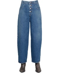 MM6 MAISON MARGIELA Wide Leg Cotton Denim Jeans