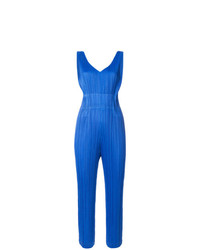 Pleats Please By Issey Miyake Pleated V Neck Jumpsuit