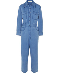 Tibi Washed Cotton Blend Twill Jumpsuit