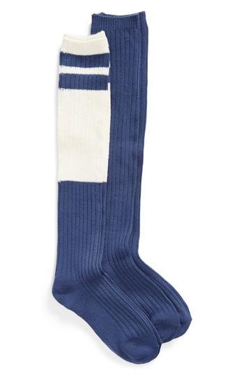 221f0753d ... Make + Model 2 Pack Slouchy Varsity Knee High Socks