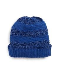 Blue Knit Beanie