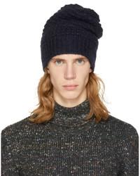 Stella McCartney Navy Knit Beanie