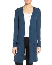 Halogen rib knit wool blend cardigan medium 757408