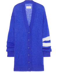 Maison Margiela Striped Open Knit Cardigan