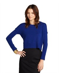 Design history glory blue cashmere cropped sweater medium 175946