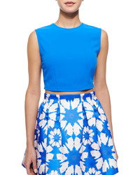 Alice + Olivia Klynn Sleeveless Knit Crop Top