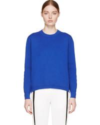 Blue knit zippered sweater medium 290143