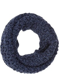 Barneys New York Net Knit Cowl Blue