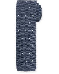 Knitted dot silk tie medium 700021