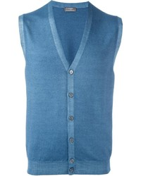 Barba Button Down Knitted Waistcoat