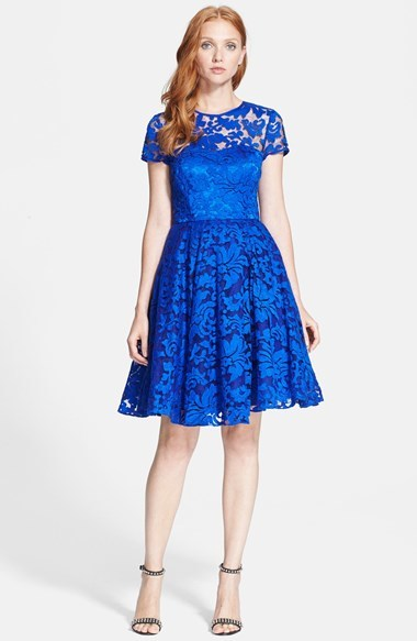 5f7fab347ca ... Party Dresses Ted Baker London Caree Lace Fit Flare Dress ...