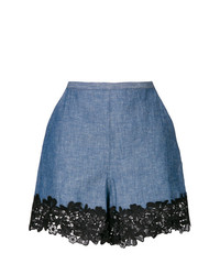 See by Chloe See By Chlo Lace Trim Chambray Shorts